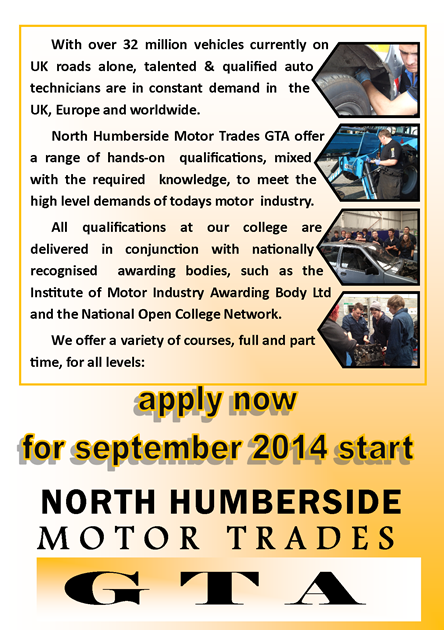 Motor Vehicle Training Courses Apprenticeships In Hull
